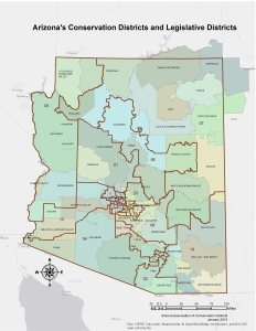 Arizona Conservation and Legislative Districts 2015